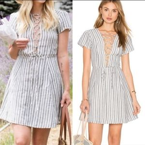 Revolve boho tie up dress
